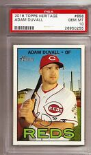 2016 Topps Heritage #656 Adam Duvall RC-Rookie REDS graded PSA 10 Gem Mint