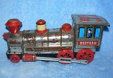 Vintage 1960's Tin Western Locomotive Battery Operated Toy Train Railroadiana