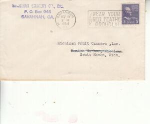 "ELUSIVE SLOGAN CXL BOXED""WEAR YOUR RED FEATHER PROUDLY"" SAVANNAH,GA.NOV 19 1954"