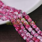 New 30pcs 8mm Cube Square Faceted Glass Loose Spacer Colorful Beads Lotus Red