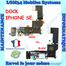 NAPPE DOCK CONNECTEUR DE CHARGE AVEC JACK POUR IPHONE 5SE SE EN NOIR OU BLANC