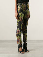ISABEL MARANT Rany High Rise Silk Pants Floral Pattern Black 36 XS S 100% Silk
