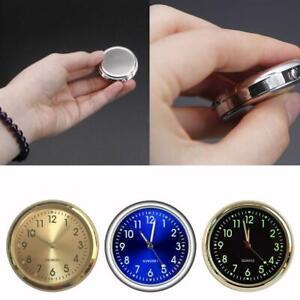Pocket Small Mini Luminous Quartz Analog Watch Stick-On Clock For Car Boat Bike