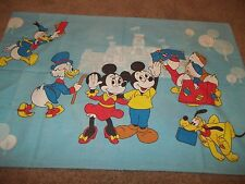 Vintage Disney Mickey Mouse Minnie Cartoon Character Pillow Case {Fabric}