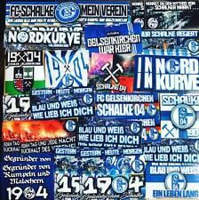 100 x Schalke Aufkleber inspiriert von Fahne Flagge Sticker Gelsenkirchen 04