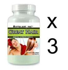 3x Great Hair Loss Tablets Prevents Stops Thinning Growth Pills  Splits Baldness