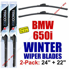 WINTER Wiper Blades 2-Pack Premium - fit 2006-2010 BMW 650i Wipers - 35240/220