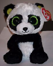 "ST* Ty Beanie Boos ~ BAMBOO the 6"" Panda (Sparkly/Glitter Eyes) ~ MWMT (STICKER)"