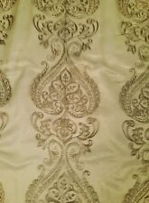 Antique Florence Embroidered Sheer Organza Fabric By the yard