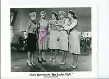 Marie Harmon Her Lucky Night Signed Autograph Photo With The Andrew Sisters