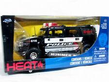 Jada Heat 2011 HUMMER H2 POLICE K-9 W/Box 1/24 Diecast