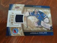 UD Game Jersey Special Edition Hockey Hall of Fame card featuring JAROSLAV HALAK