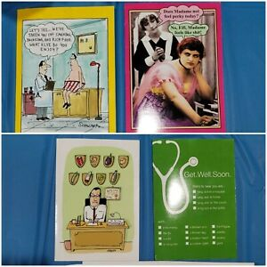 5 Noble Works get well soon Mix And Match Funny Novelty Celebrate Card