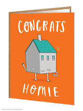 Brainbox Candy funny humorous 'New Homie' greeting card novelty cheeky moving