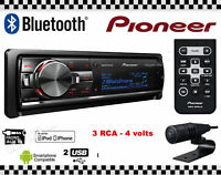 PIONEER DEH-X9600BT car stereo CD/USB 3 RCA out Remote control