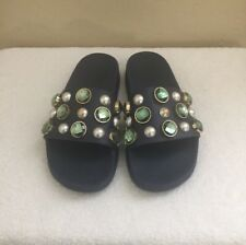#16 Womens Tory Burch Vail Slide Color Navy Seal Size 6.M