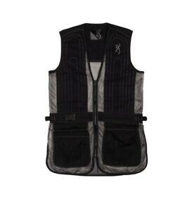 Browning Reactar G3 Junior Trapper Creek Shooting Vest Medium Black Gray Hunting