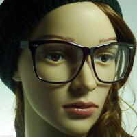 RETRO Large Oversized Geek Nerd Women Men Unisex Frame Clear Lens Eye Glasses