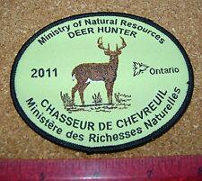 2011 ONTARIO MNR DEER HUNTING PATCH badge,flash,crest,moose,bear,elk,Canadian