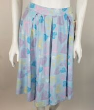 NEW Lularoe Madison Skirt Small Light Blue Pastel Heart Print