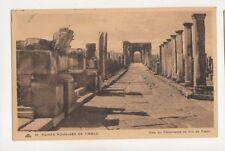 Ruines Romaines Timgad Voie du Decumanus Algeria Vintage Postcard 292b