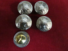 """CONCHOS: 5 Real Coin High Grade """"Indian"""" Nickle, with Post & Screw"""