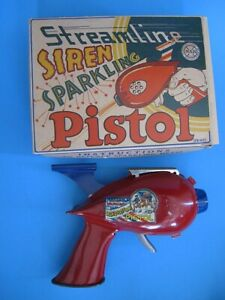 Vintage Marx 50's Streamline Siren Sparkling Pistol Space Ray Gun W/Original Box