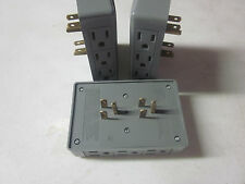 ~ 3 ~ SIDE ENTRY 6-WAY ELECTRICAL OUTLET SOCKET IN-WALL TAP ADAPTER SPLITTER 15A