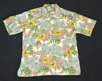 Kona Kai Trading Co Mens Hawaiian Shirt Short Sleeve Pastel Floral Size L