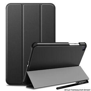 "Coque Smart Noir Premium pour Samsung Galaxy Tab A7 Lite 8.7"" SM T220 T225"