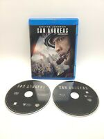 San Andreas Movie - Dwayne The Rock Johnson (Blu-ray Disc, 2015, 2-Disc Set)
