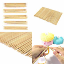 55Pcs Double Pointed Bamboo Knitting Needles Sweater Glove Scarf Knit Tool Kit