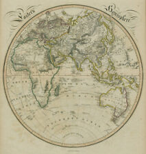 Eastern Hemisphere. New Holland. Cook Gore Vancouver routes. LIZARS 1842 map