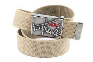 Vintage Tony HAWK Beige Fabric Belt Metal Buckle SIZE 36