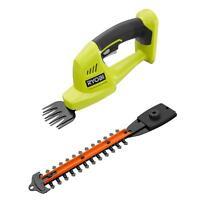 Ryobi 18-Volt Cordless Handheld Lawn Grass Shear & Shrubber, Shrub Hedge Trimmer