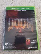 Doom 3 -- BFG Edition w/ Poster (Microsoft Xbox 360, 2012) Brand New Sealed