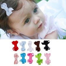 10pcs Baby Kids Girl Bow Alligator Hair Clip Grosgrain Ribbon Bowknot Hairpin