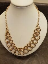 GOLD TONE CIRCLE CHAIN NECKLACE WOMEN'S STATEMENT