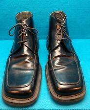 Men's Shoes-Low Boots- Size 46 By LORENZI MADE IN ITALY-Black-EUC