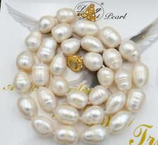 BEAUTIFUL 12-14MM SOUTH SEA BAROQUE WHITE PEARL NECKLACE 18inch AAA