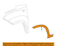FIAT OEM 14-17 500L EXTERIOR TRIM-FENDER-Wheel Opening Molding Right 68275444AA