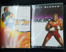 2 DVDs Billy Blanks Tae Bo cardio circuit 2 flex express New