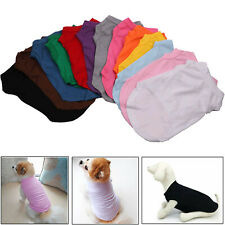 Pet Clothes Simple Cotton Dog Solid Color Vest Sleeveless T-Shirt Puppy Costume