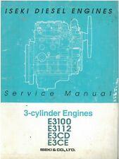 Iseki Diesel Engine E3100 E3112 E3CD E3CE Workshop Service Manual