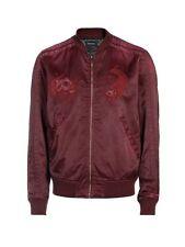 Diesel J-Blues Jacket Red Bordeaux Birke Bomber NEW size L