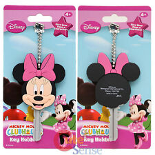 Disney Minnie Mouse Key Cap PVC Key Chain Holder Mickey Mous Club House