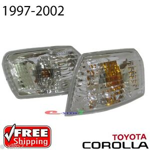 New Crystal Corner Indicator Side Lamp Lights - Toyota Corolla AE110 E110 97-02