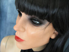 Latex Rubber Mask KEIRA +LASHES +BANGS-WIG - Real. Woman Girl Gum Sissy Face
