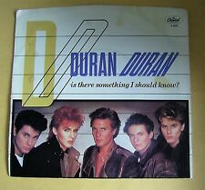 "Vintage 1983 Duran Duran 45-RPM Record ""Is There Something I Should Know?"""