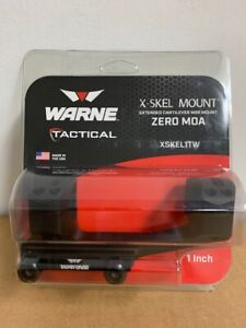 "New Warne Extended X-Skel 1-Piece MSR Scope Mount Black 1 inch 1"" XSKEL1TW"